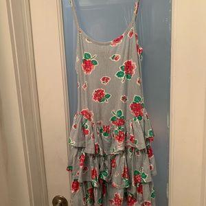 Betsey Johnson Floral, Ruffled Dress